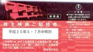 東宝(9602)の株主優待