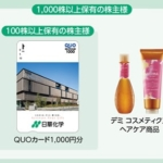 12月株主優待:日華化学(4463)