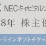 3月株主優待:NECキャピタルソリューション(8793)