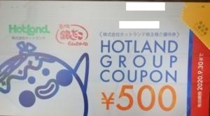 ホットランド(3196)の株主優待