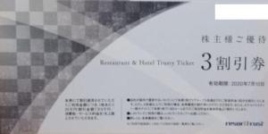 リゾートトラスト(4681)の株主優待